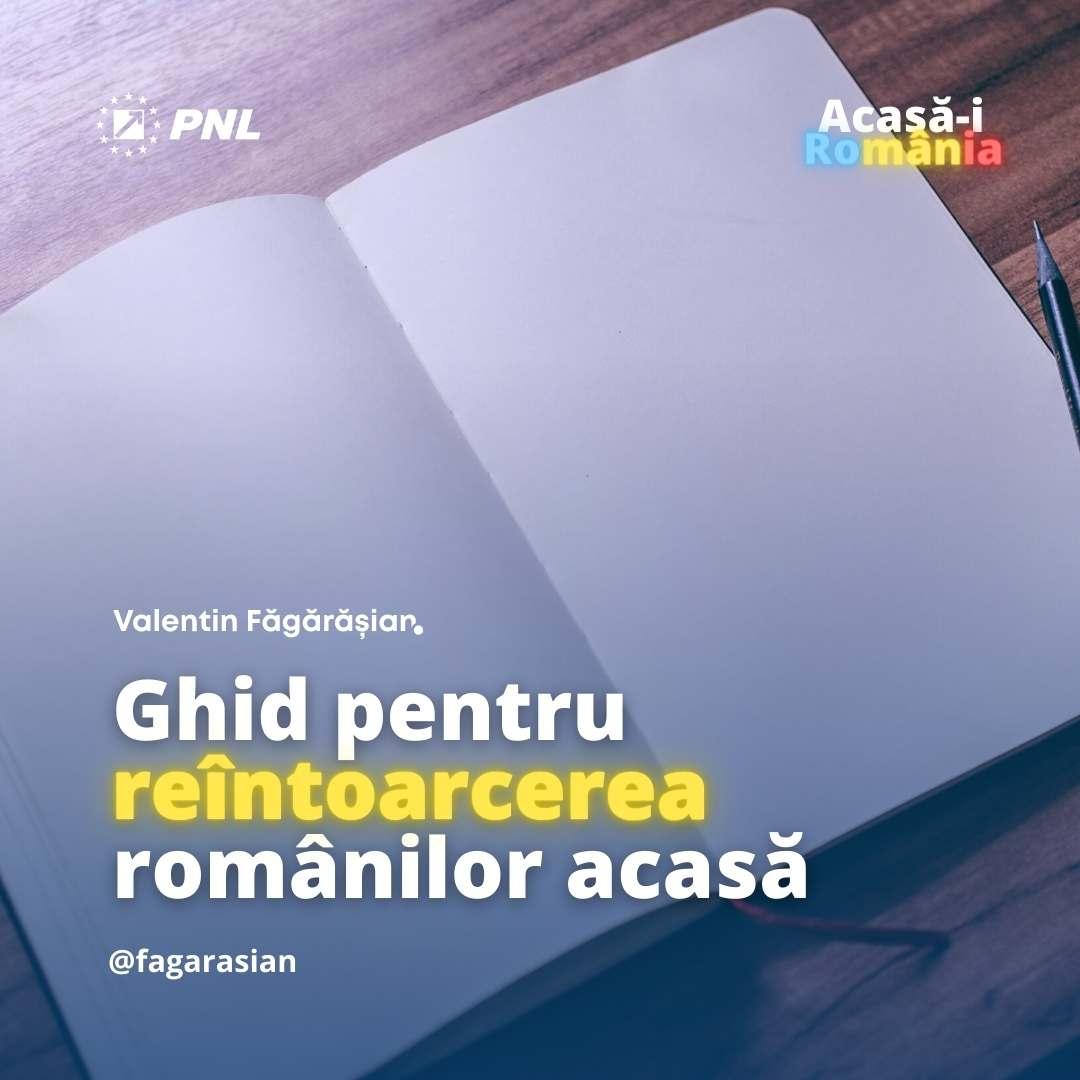 imaginea reprezintă un document cu tilpul ghid pentru reîntoarcerea românnilor acasă